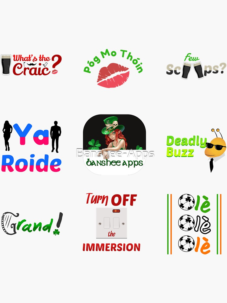Irishmoji Magic Sticker Pack 4 by Banshee-Apps