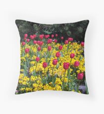 Tulips On Display Throw Pillow