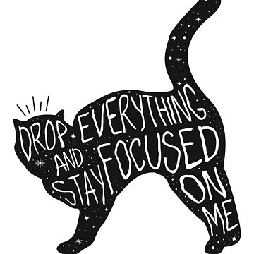 Drop Everything Salem The Cat Quote Graphic by TotalTeeGeek