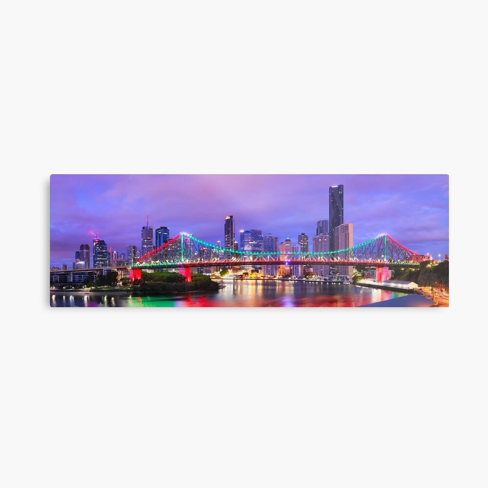 Colourful Story Bridge, Brisbane, Queensland, Australia Metal Print