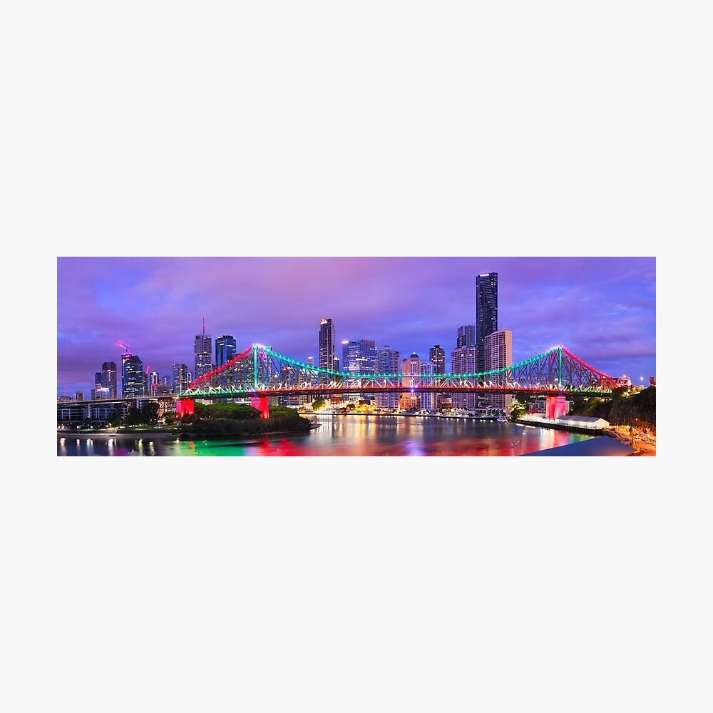 Colourful Story Bridge, Brisbane, Queensland, Australia Photographic Print