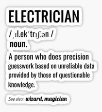 Pegatina Definición de electricista