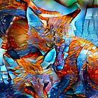 Redreaming Deep Dreamed Fox Cubs  by WENDY BANDURSKI-MILLER