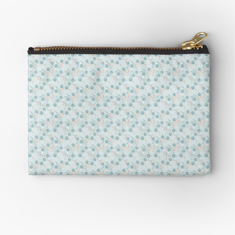 Little Blue FLowers Zipper Pouch