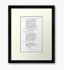 Elio & Father Framed Print
