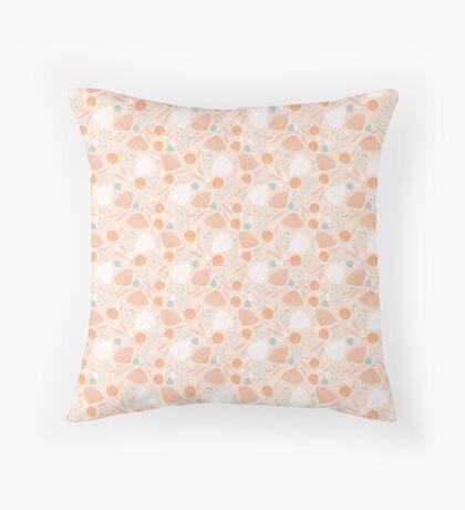 Tiny Pink Flowers Throw Pillow