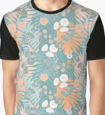 Green Pastel Floral Graphic T-Shirt