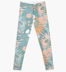Green Pastel Floral Leggings