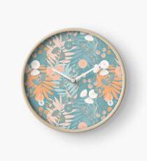 Green Pastel Floral Clock