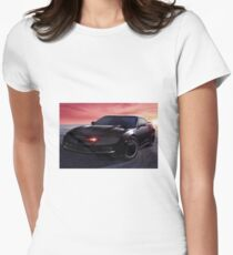 Knight Rider Car 80s show Women's Fitted T-Shirt