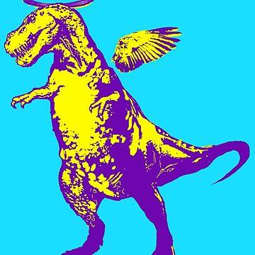 Angel Rex (purple and yellow) by sandpaperdaisy