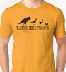 Tastes Like Dinosaur (text-shadow) Tee Unisex T-Shirt