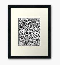 Lamb's Abstract Doodle Framed Print