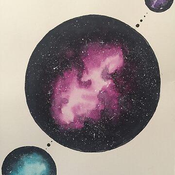 Orbiting  Galaxy by Tarasadventure