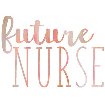 Peach Marbled Future Nurse de annmariestowe