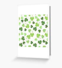 Seamless vector shamrock background for St. Patricks Day Greeting Card