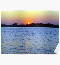 Sunset Over Barnegat Bay in Ortley Beach, NJ Poster