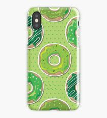 Seamless St Patrick's Day donuts iPhone Case/Skin