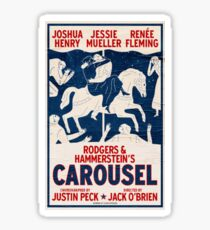 carousel broadway Sticker