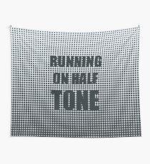 Running on Half Tone Wall Tapestry
