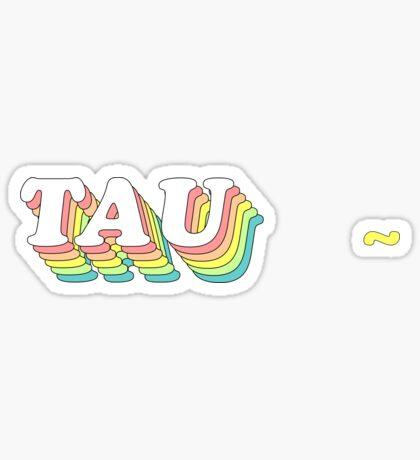 rainbow 3D 1.0 (tamaño ajustado) - tau Pegatina