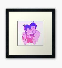 Klance Hug: Variation-Color Framed Print