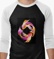 Night 'Tails' - Koi Men's Baseball ¾ T-Shirt