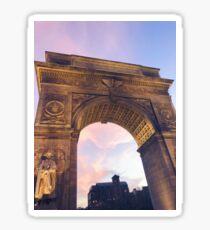 Pegatina Washington Square Park Pastel Sunset Arch