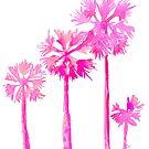 Tropical Pink Palms by LIMEZINNIASDES