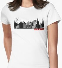 Killbot City Womens Fitted T-Shirt