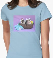 Easter Puppies Womens Fitted T-Shirt
