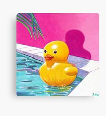Cindy the Pool Toy Canvas Print