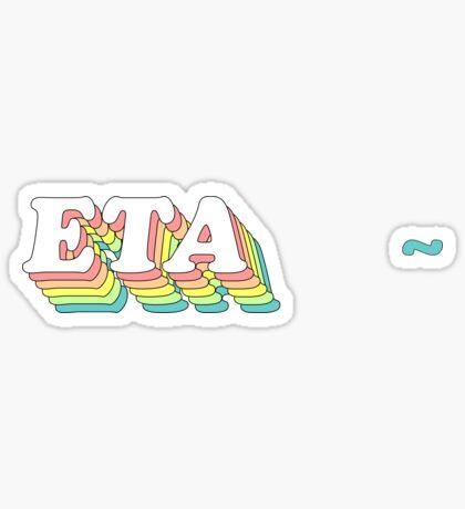 rainbow 3D 1.0 (tamaño ajustado) - eta Pegatina