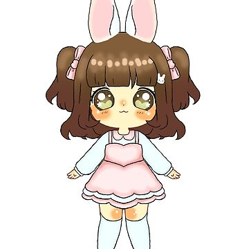 Easter Bunny Chibi Girl (Medium Skin Tone) by NicholiCosplay