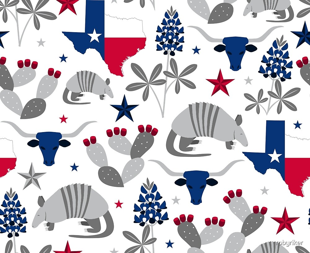 Symbols Of Texas By Robyriker Redbubble