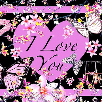 I Love You Thoughts in Pink & Black by GittaG74