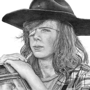 Carl Grimes graphite portrait by DanceKaitoDance