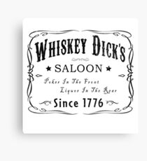 WHISKEY DICKS SALOON Canvas Print