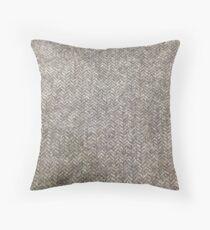 Handwoven tweed Throw Pillow