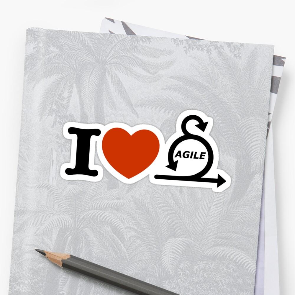 «I love agile» de yourgeekside