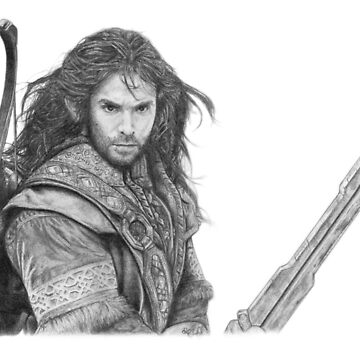 Graphite portrait Kili Dwarf by DanceKaitoDance