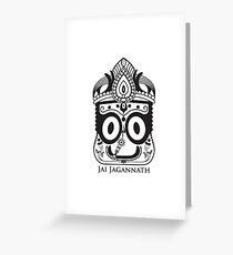 LORD JAGANNATH Greeting Card