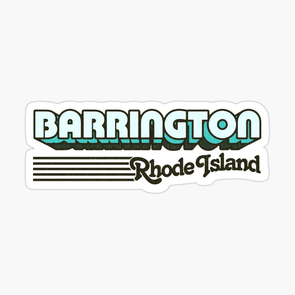 Barrington, Rhode Island   Retro Stripes Sticker