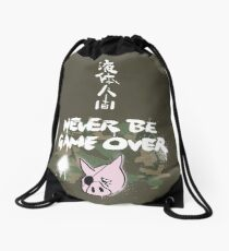 Never Be Game Over Drawstring Bag
