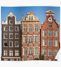 Canal Houses, Amsterdam Poster