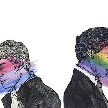 Sherlock y John True Colors de itsjohnlock