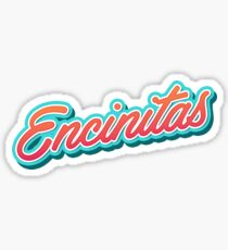 Encinitas Typography Sticker