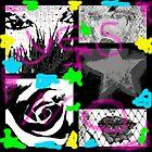 Sexy Eyes -beautiful women face - Star - Rose - Kussmund - Graffiti von Marion Waschk