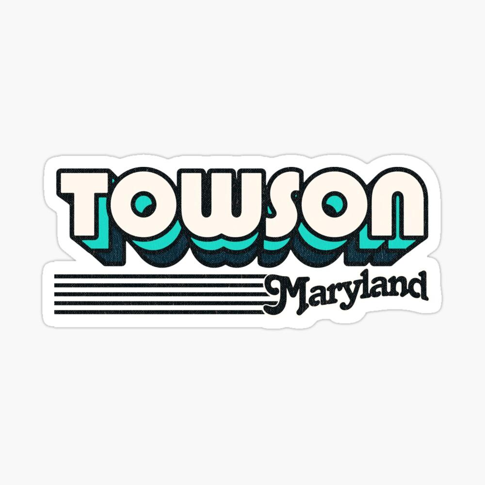 Towson, Maryland | Retro Stripes Sticker