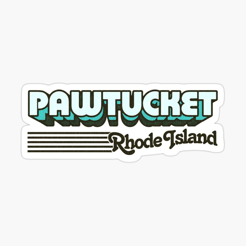 Pawtucket, Rhode Island   Retro Stripes Sticker